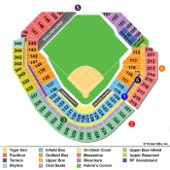 Comerica Park Seating Chart
