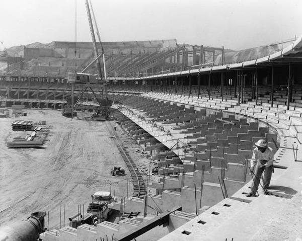 Los Angeles Dodgers Ballpark Construction Pictures