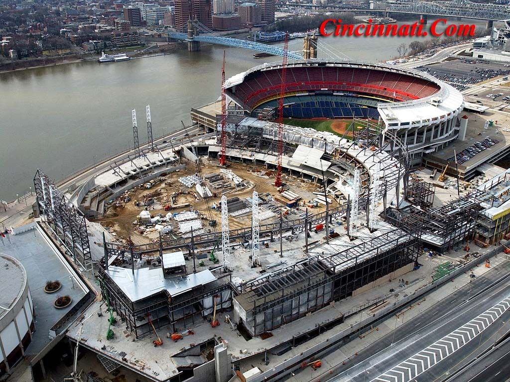 Cincinnati Reds Ballpark Construction Pictures