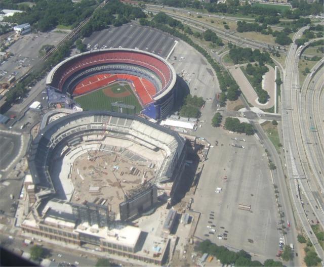 Stadium Aerial View Aerial of Shea Stadium And