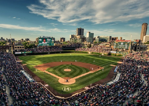 pics for wrigley field at night wallpaper