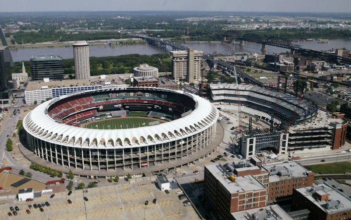 Stadium Aerial View Aerial of Busch Stadium