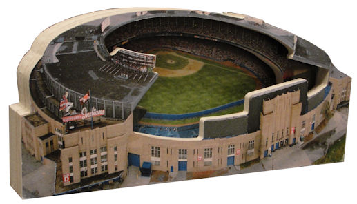 Cleveland Municipal Stadium Indians 3D Ballpark Replica