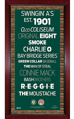 Oakland Athletics Framed Subway Art