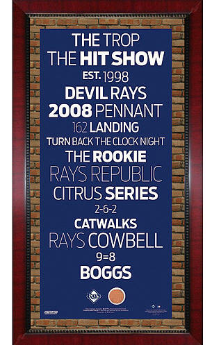 Tampa Bay Rays Framed Subway Art