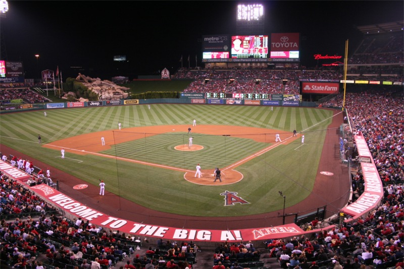 Group Of Angles Baseball Field Wallpaper