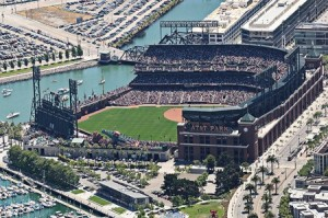 Aerial of AT&T Park