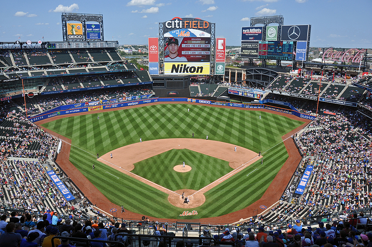 View from the upper deck at Citi Field, home of the New York Mets