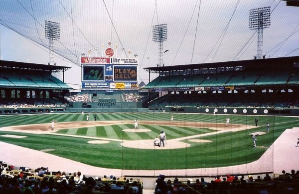 View of Comiskey Park, former home of the Chicago White Sox