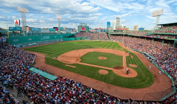 View from the upper deck at Fenway Park. Picture: Mark Whitt