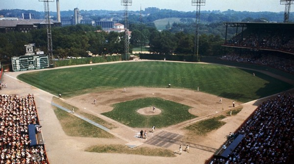 Original caption: General view of Forbes Field, home of the Pittsburgh Pirates. October 1966 Pittsburgh, Pennsylvania, USA