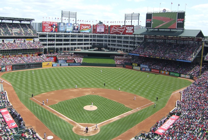 View from the upper deck at Globe Life Park