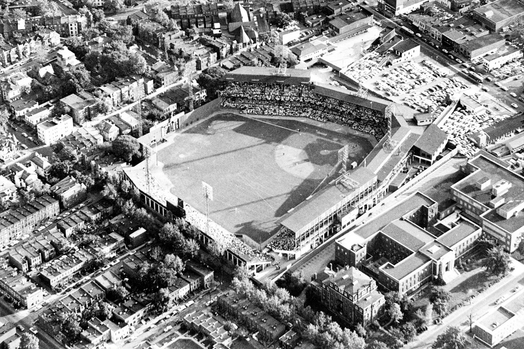 Aerial of Griffith Stadium, former home of the Washington Senators