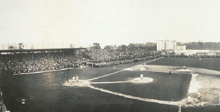 View of Hilltop Park, former home of the New York Highlanders
