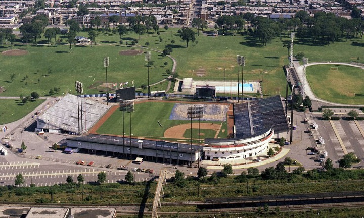 Aerial of Jerry Park, former home of the Montreal Expos