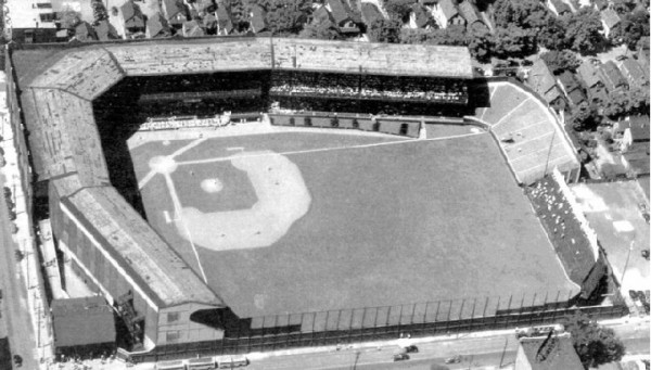 Aerial of League Park, former home of the Cleveland Indians