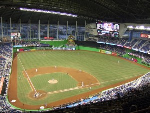 View from the upper deck at Marlins Park