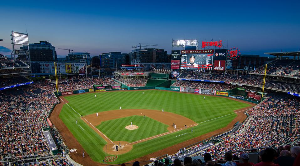 View from the upper deck at Nationals Park, home of the Washington Nationals