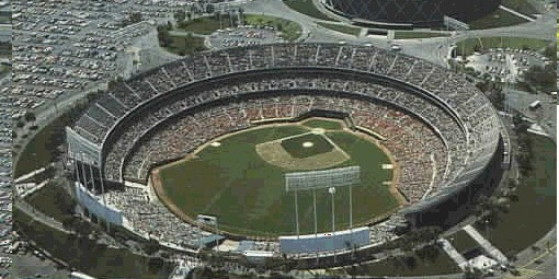 Oakland Coliseum in the 1980s