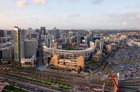 Aerial of Petco Park