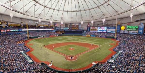 View from the upper deck at Tropicana Field - Picture: Mark Whitt