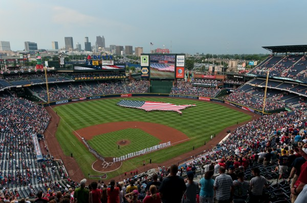 View from the upper deck at Turner Field - Picture: Mark Whitt