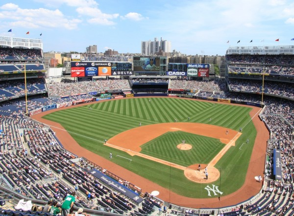 View from the upper deck at Yankee Stadium, home of the New York Yankees