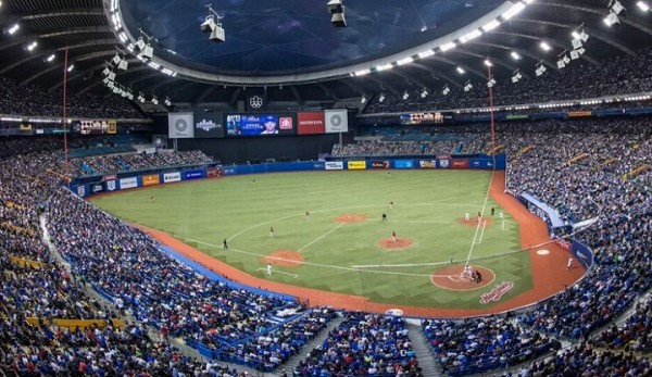 View from the upper deck at Olympic Stadium, former home of the Montreal Expos