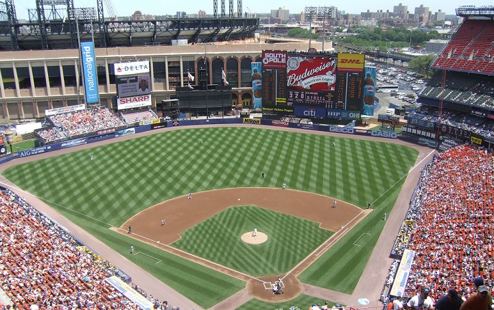 View from the upper deck at Shea Stadium, former home of the New York Mets