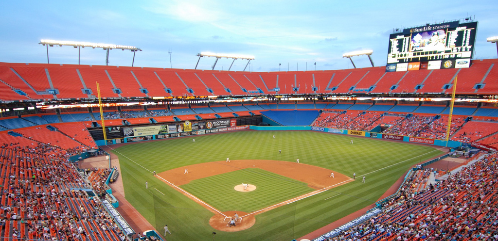 View From The Upper Deck At Sun Life Stadium Former Home Of Florida Marlins