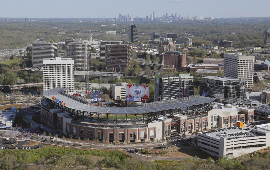 Aerial of SunTrust Park - Picture: Atlanta Journal Constitution