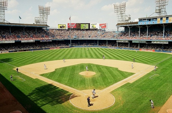 View of Tiger Stadium, former home of the Detroit Tigers