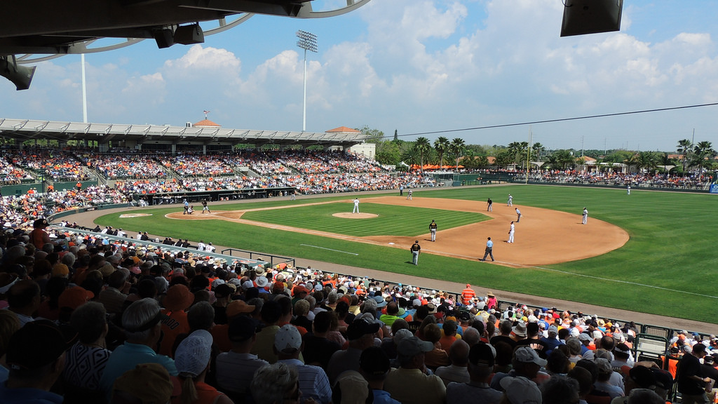 Ed Smith Stadium, spring training home of the Baltimore Orioles