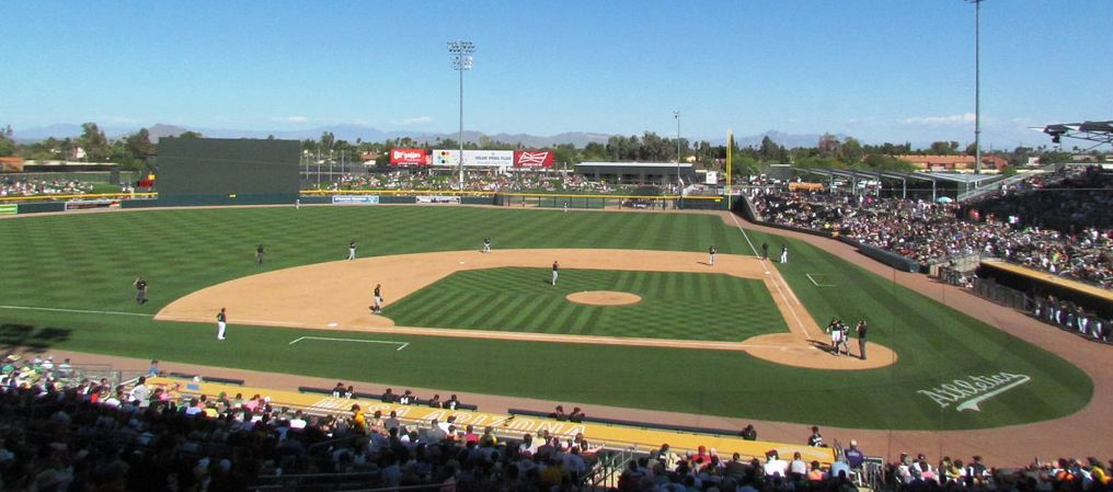 Hohokam Stadium, spring training home of the Oakland Athletics