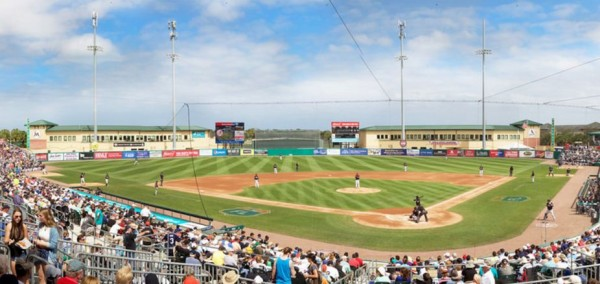 Roger Dean Stadium, Spring Training home of the Miami Marlins and St. Louis Cardinals