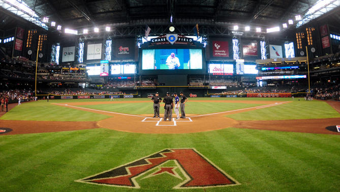 Apr 6, 2016; Phoenix, AZ, USA; General view of Chase Field prior to the game between the Arizona Diamondbacks and the Colorado Rockies. Mandatory Credit: Matt Kartozian-USA TODAY Sports