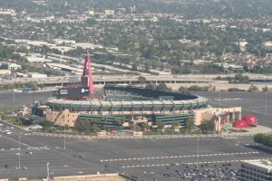 Aerial of Angel Stadium