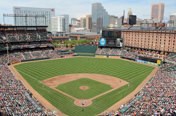 View from the upper deck at Camden Yards.