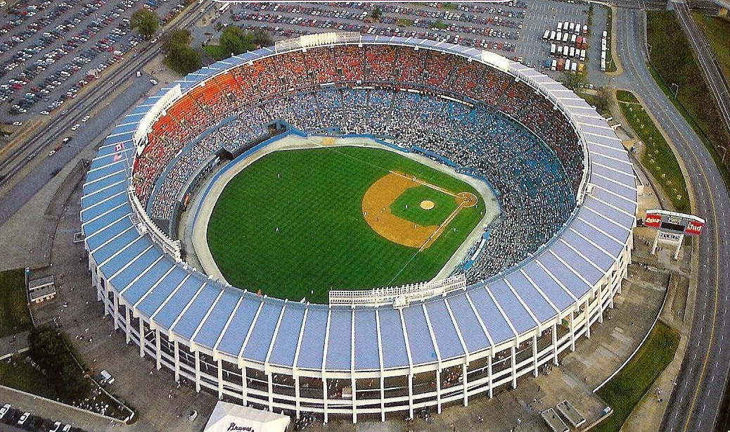 View of Atlanta Fulton County Stadium, former home of the Atlanta Braves