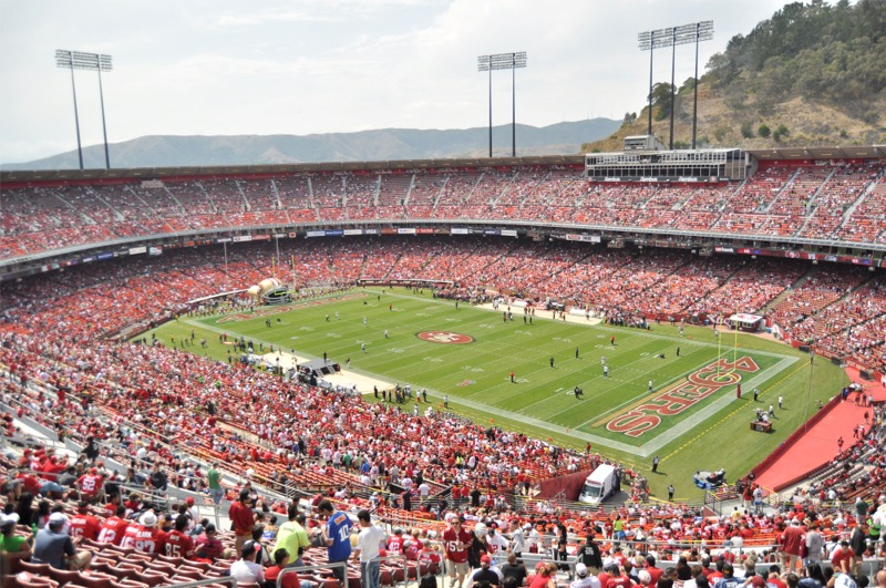 candlestick park history photos and more of the san francisco