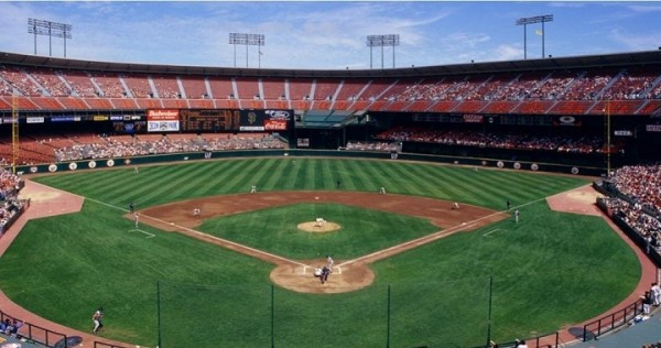 Candlestick Park, former home of the San Francisco Giants