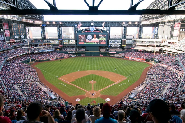 View from the upper deck at Chase Field