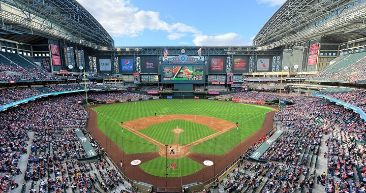 View from the upper deck at Chase Field. Picture: Mark Whitt