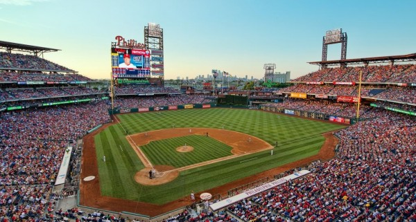 View from the upper deck at Citizens Bank Park - Picture: Mark Whitt