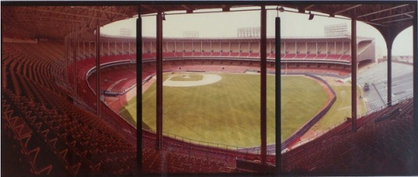 Cleveland Municipal Stadium, former home of the Cleveland Indians