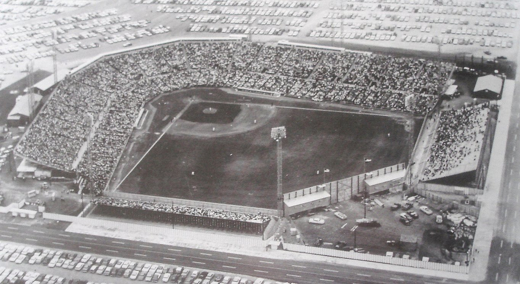 Aerial of Colt Stadium, former home of the Houston Astros