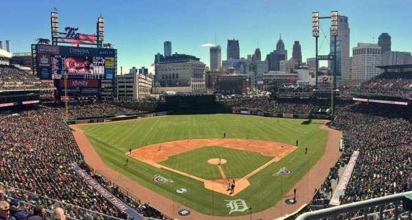 Comerica Park, home of the Detroit Tigers