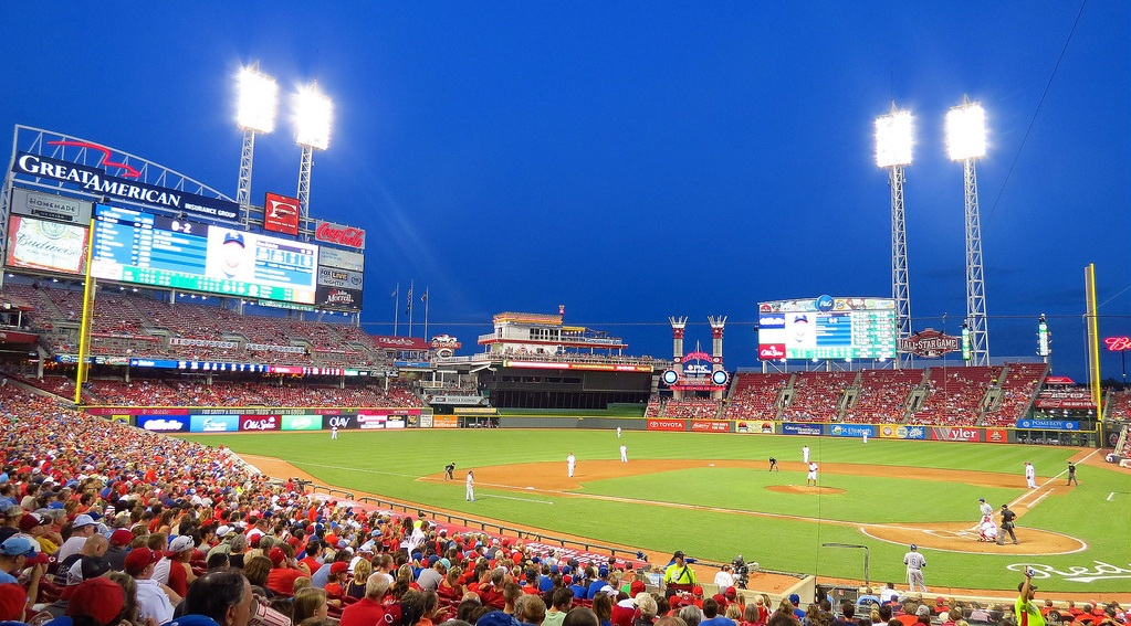 View of Great American Ball Park, home of the Cincinnati Reds