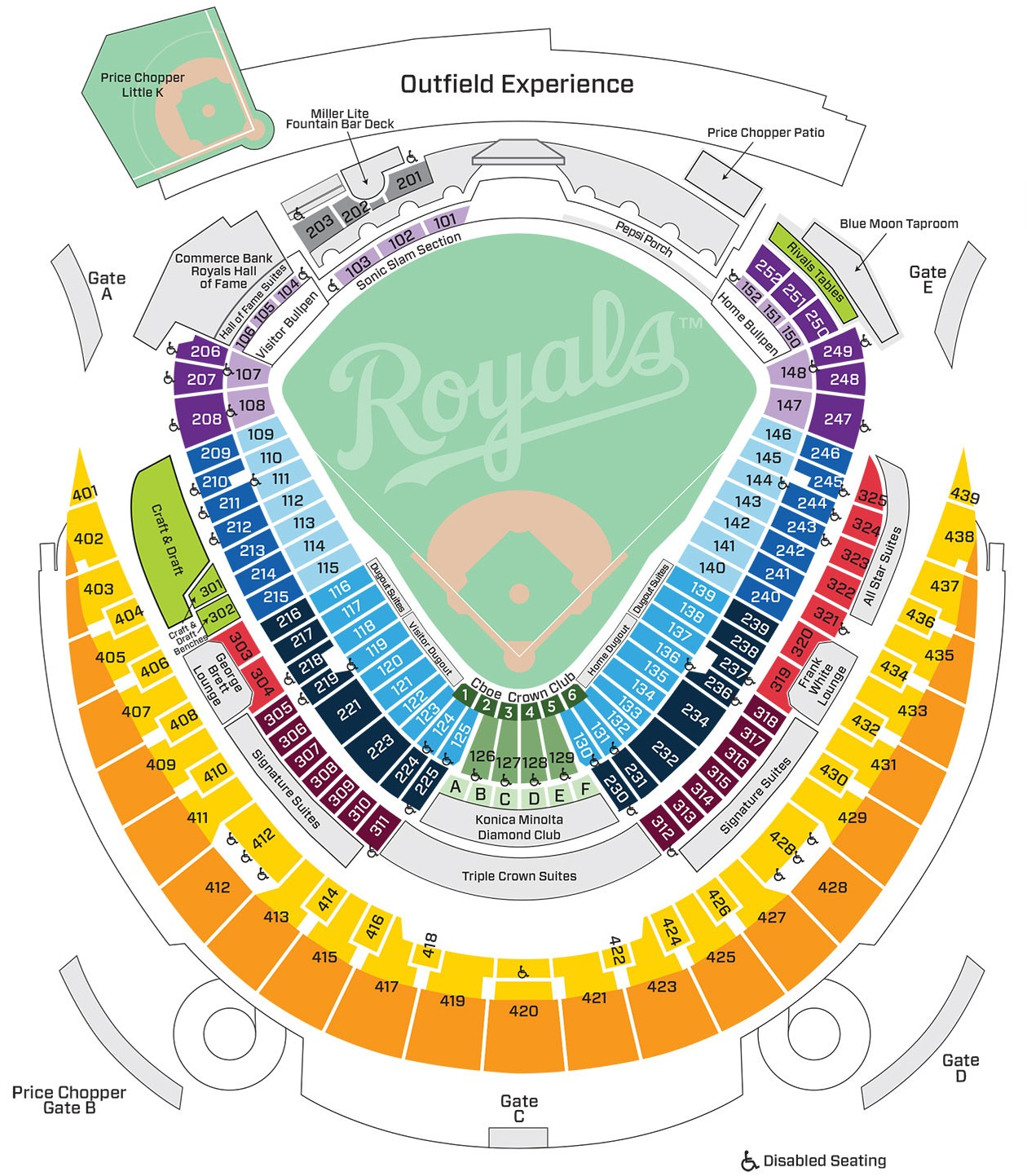 MLB Ballpark Seating Charts, Ballparks of Baseball
