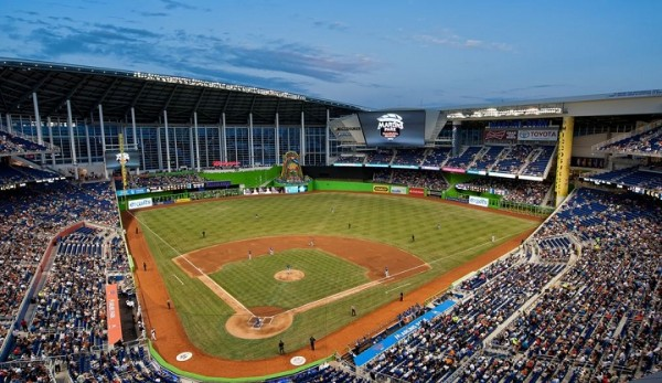 View from the upper deck at Marlins Park - Picture: Mark Whitt